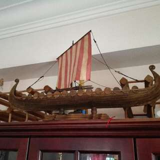 Viking ship model (hand made fm Norway)