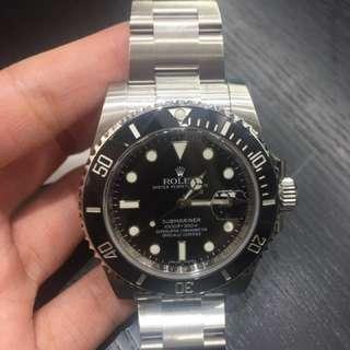 全新Rolex 116610LN 黑水鬼