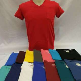Plain V-Neck w/ pocket