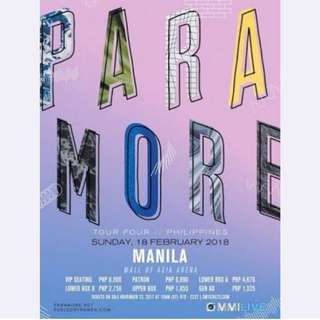 LOOKING FOR 2 Paramore tickets