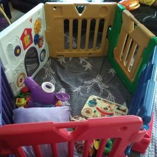 Kids land Baby Play Yard 6panel with games and sound