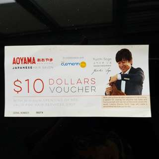 $10 Hair services voucher Aoyama Clementi Mall