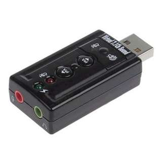 [PO] External USB 2.0 With Microphone Converter Virtual 7.1 Ch Sound Card Adapter BIG