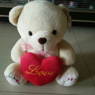 Soft bear snowy with love soft cuddle toy