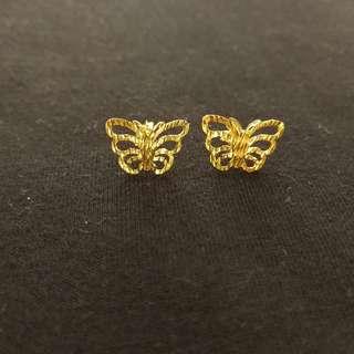 Butterfly Earrings 18K Valentines Gift
