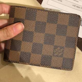 Brand New Louis Vuitton Damier Ebene Slender Mens Wallet
