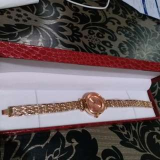 With leather box