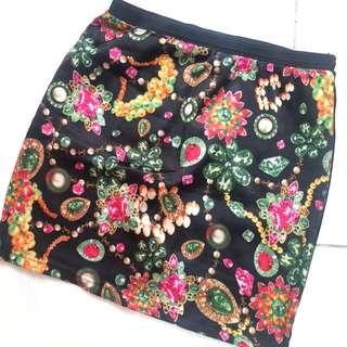 Jeweled skirt