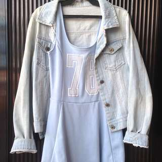 H&M Dress with Denim Jacket