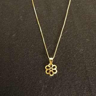 Flower Necklace -18K Gold
