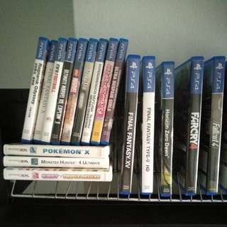 PS4, PS vita, 3DS games trade or sell