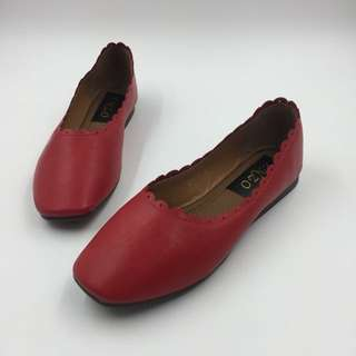 PATRICK RED FLAT SHOES
