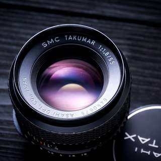 Pentax 55mm f1.8 SMC M42 mount lens