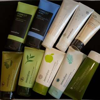 Innisfree Green tea Cleansing Foam / white pore cleanser / sea salt perfect / bija trouble / apple seed/ forest men
