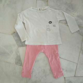Zara Kids 1y -  2y Long Sleeve & Legging