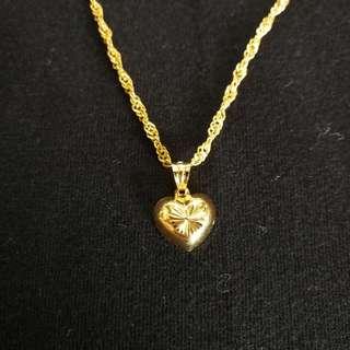 Valentines Heart Necklace -18k Gold