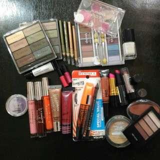 Assorted branded make up