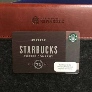 🇵🇭 Starbucks Card Brown Woodwork