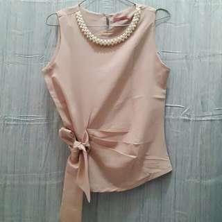 Pearl Ribbon Top