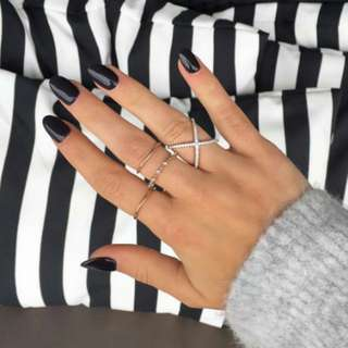 925 sterling silver with rhodium plated cross ring