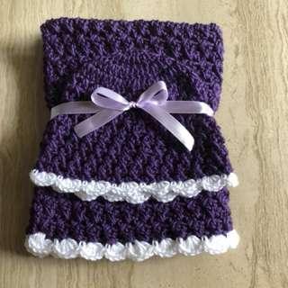 Crochet newborn blanket hat