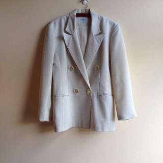 🚚 柏林古著👘薄棉質素雅套裝外套  #大掃除五折