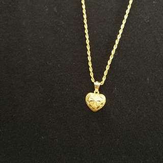 Shining Heart Necklace - 18K Gold