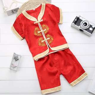 Readystock CNY Clothes - RedGold