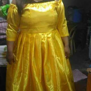 Yellow gown plus size US 18