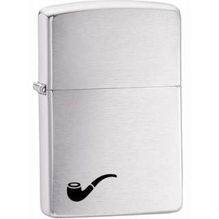 Zippo Pipe Brushed Chrome 200PL