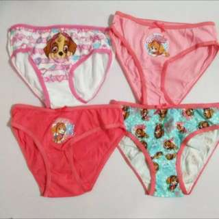 PO Authentic paw patrol girls panties brand new size 3-4yrs old only 4pcs set