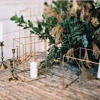 Wedding prop geometry deco x 2 Pieces