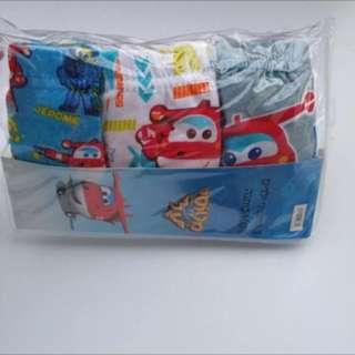 PO Super wings underwear size 80-120cm stock running fast!! Brand new 3pcs set