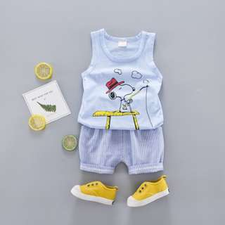 Snoopy Singlet Set With Pants