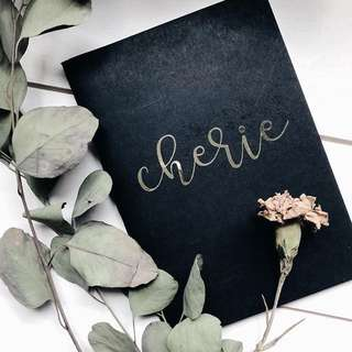 Customise A5 notebook