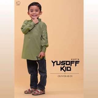 OLIVE GREEN KURTA YUSOFF KIDS