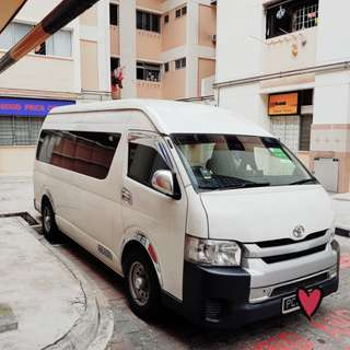 Hiace highroof for rental.