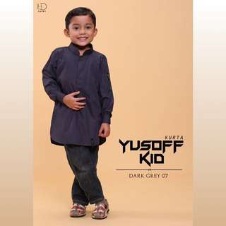 DARK GREY KURTA YUSOFF KIDS