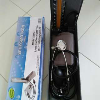 BLOOD PRESSURE SET with STETHOSCOPE