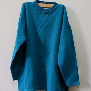 Oversized Blue Green Sweater
