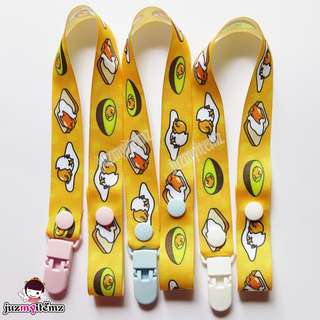 Multipurpose Toy clip / Pacifier clip / Dummy clip / Teether Holder Clip - Gudetama C