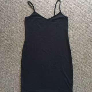 Black Bodycon Dress - Size M
