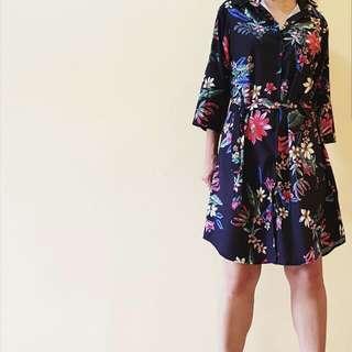 Printed Polo Dress