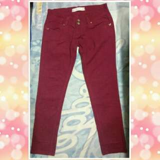 Preloved maroon skinny pants
