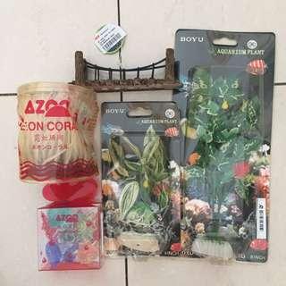 (1 paket 25rb) Accessories aquarium