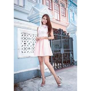 MGP Label: Keira Fleur Cheongsam in Sweet Pink - Size M