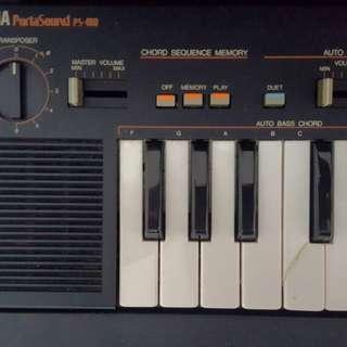Vintage Yamaha Portasound keyboard