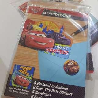 Disney Cars Invite