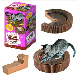 Japan Good Quality Round Shape Corrugated Cat Scratcher Cat compressed Cardboard bed Funny Pet Cats Toy Cat Scratch Board Protect Cat