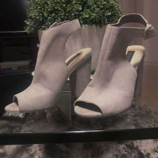 Forever New Grey Ankle Boots